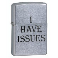 Zippo I Have Issues Street Chrome Pocket Lighter