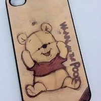 Winnie The Pooh Baby Vintage Iphone 4 4s Hard Case