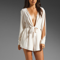 Finders Keepers Buckets of Rain Playsuit in Ivory from REVOLVEclothing.com