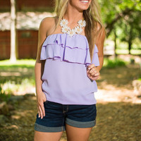 Flounce And Bounce Tank, Lavender