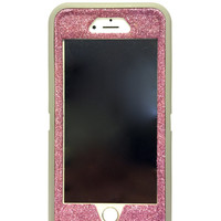 iPhone 6 (4.7 inch) OtterBox Defender Series Case Glitter Cute Sparkly Bling Defender Series Custom Case  gray / pink