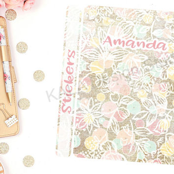 Customized Retro Spring Themed Sticker Binder Cover! Perfect For Erin Condren Life Planner, Happy Planner and Calendar Stickers!