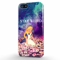 ALICE IN WONDERLAND STAY WEIRD iPhone 5 | 5s Case, 3d printed IPhone case