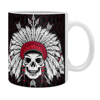 Chobopop Geometric Indian Skull Coffee Mug
