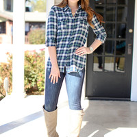 Lumberjack Lover Flannel - Green and Navy