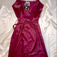 SWEET LORD O'MIGHTY! AFTERNOON DELIGHT SILK DRESS IN MAROON