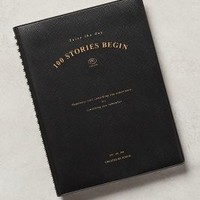 Iconic 100 Stories Begin Journal in Black Motif Size: One Size House & Home