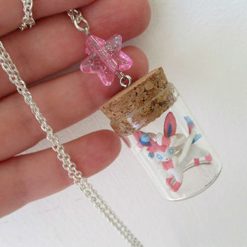 Pokémon Necklace - SYLVEON - Toy in a Bottle - Gamer Gear