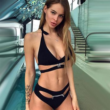2020 new women's sexy beach swimsuit split bikini two-piece suit