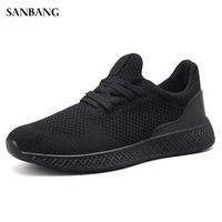 2018 New Arrival Men Tennis Shoes Outdoor Jogging Training Sneakers Black Men Athletic Shoes Free Shipping Cheap 4