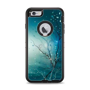 The Electric Teal Volts Apple iPhone 6 Plus Otterbox Defender Case Skin Set