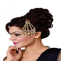 Indian Traditional Style Chaand Bali Mang Tikka For Women