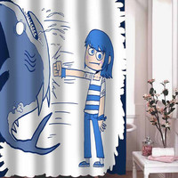 Shark Punch shower curtain adorabel batheroom hane made