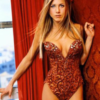 Jennifer Aniston Poster Sexy Red Teddy 24inx36in