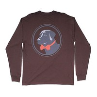 Original Logo Long Sleeve Tee in Bark by Southern Proper