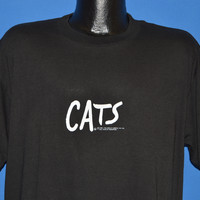 80s Cats The Musical Eyes t-shirt Extra Large