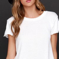 Obey Mini Mental Ivory Cropped Tee