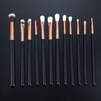 12pcs/lot Pro Makeup Brushes Set Foundation Powder Eyeshadow Eyeliner Lip Brush Tools Eyeshadow Brush Set Highlighter Brushes