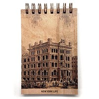 Wood Notepad New York Life Small