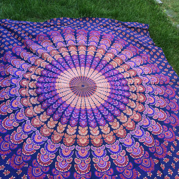 "CHRISTMAS GIFT Hippy YOGA meditation Mandala Tapestry Wall Hanging Cotton Queen Bedspread Beach Spread Bed Spread Picnic Spread 82""x98"""