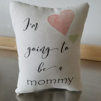 Expectant mom gifts pillow mom to be cushion throw pillow