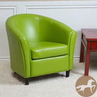 Christopher Knight Home Sherri Lime Green Bonded Leather Chair | Overstock.com