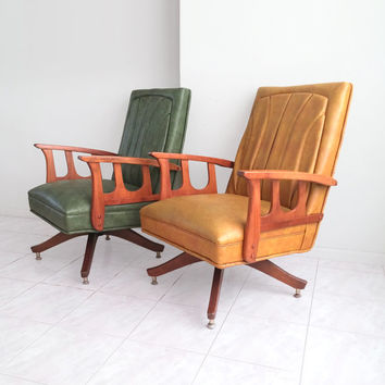 mid century MURPHY MILLER blonde wood lounge chair