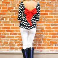 Pixel Perfect Bow Back Blouse