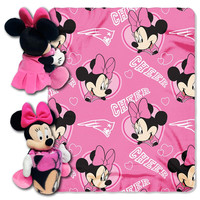 New England Patriots NFL Minnie Mouse with Throw Combo