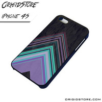 Chevron Purple Triangle Smooth Case For Iphone 4/4S Case