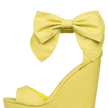 Privileged Lindsey Wedge (Yellow)-FINAL SALE