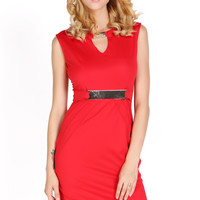 Women Keyhole Tunic Business Cocktail Party Evening Sheath Shift Dress_Dresses_Women_The Latest Trends & Fashion Clothing For Women Online Store-www.dressin.com