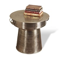 Interlude Home Antimo Large Drum Table
