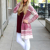 A Walk In the Woods Cardi - Wine