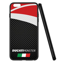 DUCATI MONSTER CARBON PRINT PATTERN iPhone 6   6S Case Planetscase.com