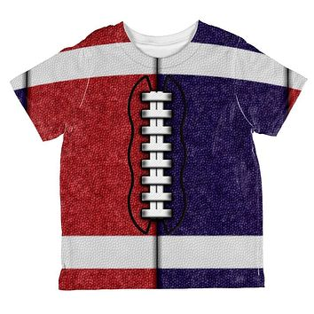 Fantasy Football Team Red and Navy All Over Toddler T Shirt