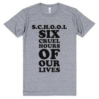 S.c.h.o.o.l-Unisex Athletic Grey T-Shirt