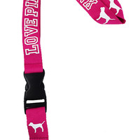 Love Pink Lanyard, Love Pink Badge Holder, Love Pink ID - PINK
