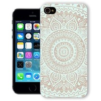 ChiChiC Iphone Case, i phone 5g 5 5s case, Iphone5 Iphone5s covers, plastic cases back cover skin protector,geometric turquoise mandala wood grain