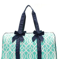 Vine Print Quilted Duffel Bag - 4 Color Choices