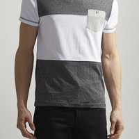 Color Block Marled Tee