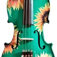 Creative Concept Instruments SSG5018 Rozanna's Sunflower DeLight 1/8 Violin Outfit, Green