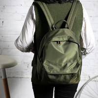 The green backpack