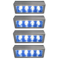 Evelots® 4-LED Touch Tap Lights,Portable Night Light For Closet & Garage,4 Pack