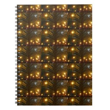 A walk in the park dazzling lights notebook