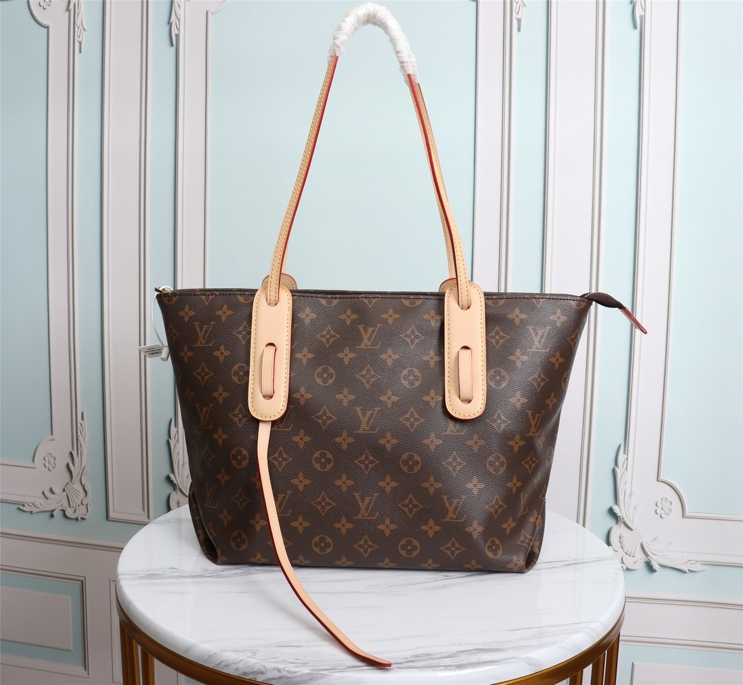 Image of Louis Vuitton LV New Men Classic Leather Large Capacity Luggage Travel Bags Tote Handbag Crossbody Satchel