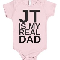 JT is my Dad-Unisex Light Pink Baby Onesuit 00