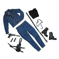 1/6 Scale The Killer Female Agent Jeans Boots Full Set fit 12 inch Black Widow Tomb Raider Phicen Kumik Body