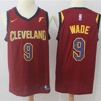 NBA Basketball Swingman Jerseys Cleveland Cavaliers # 9 Dwyane Wade Red