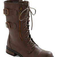 ModCloth Military Tread and Done Boot in Brown